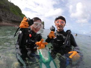 恩納村の青の洞窟ダイビング
