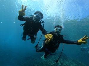 9月の沖縄旅行で体験ダイビング