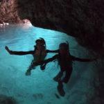 初めての青の洞窟でシルエット写真