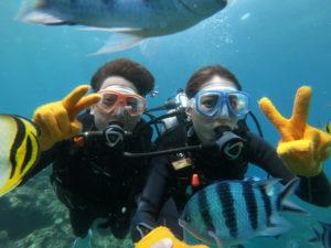 沖縄ダイブランド で青の洞窟へ